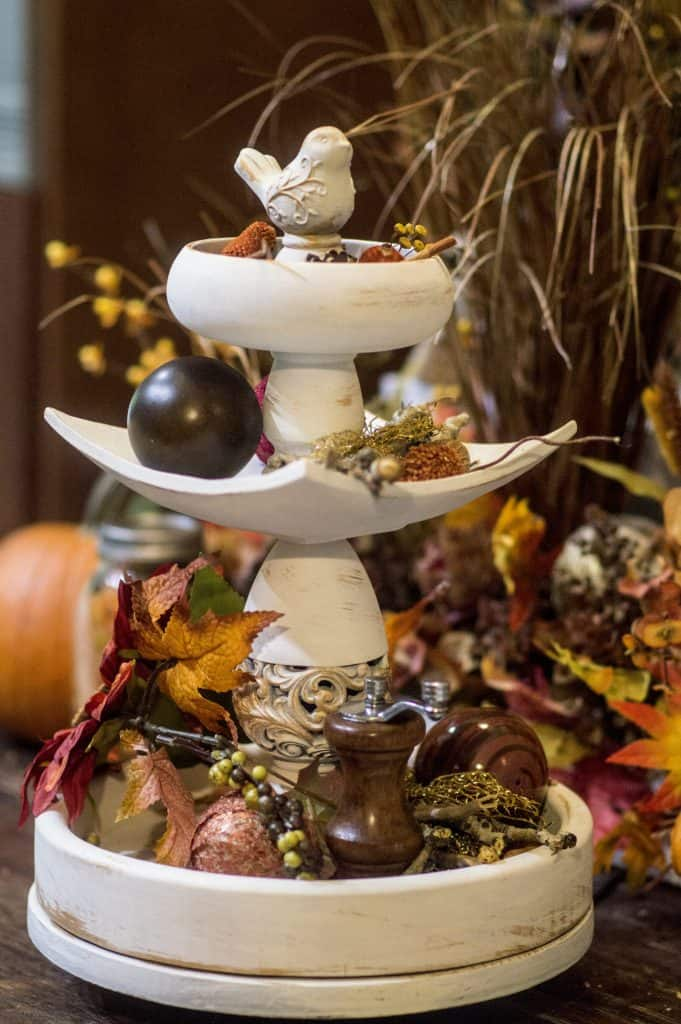 fall tiered shelf