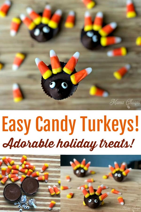 Easy Candy Turkeys DIY