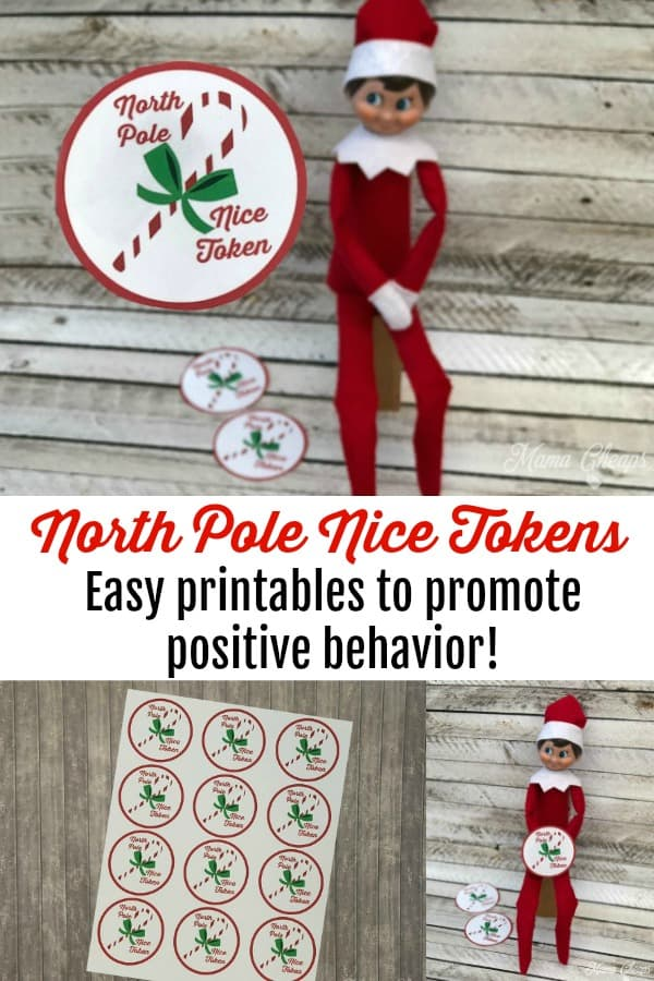 North Pole Nice Tokens Positive Behavior