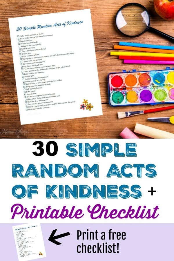 Simple Random Acts of Kindness pin