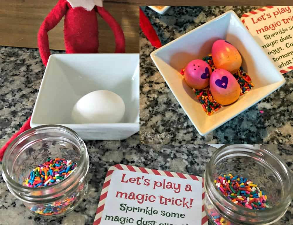 Elf Magic Egg Trick Printable Card Mama Cheaps
