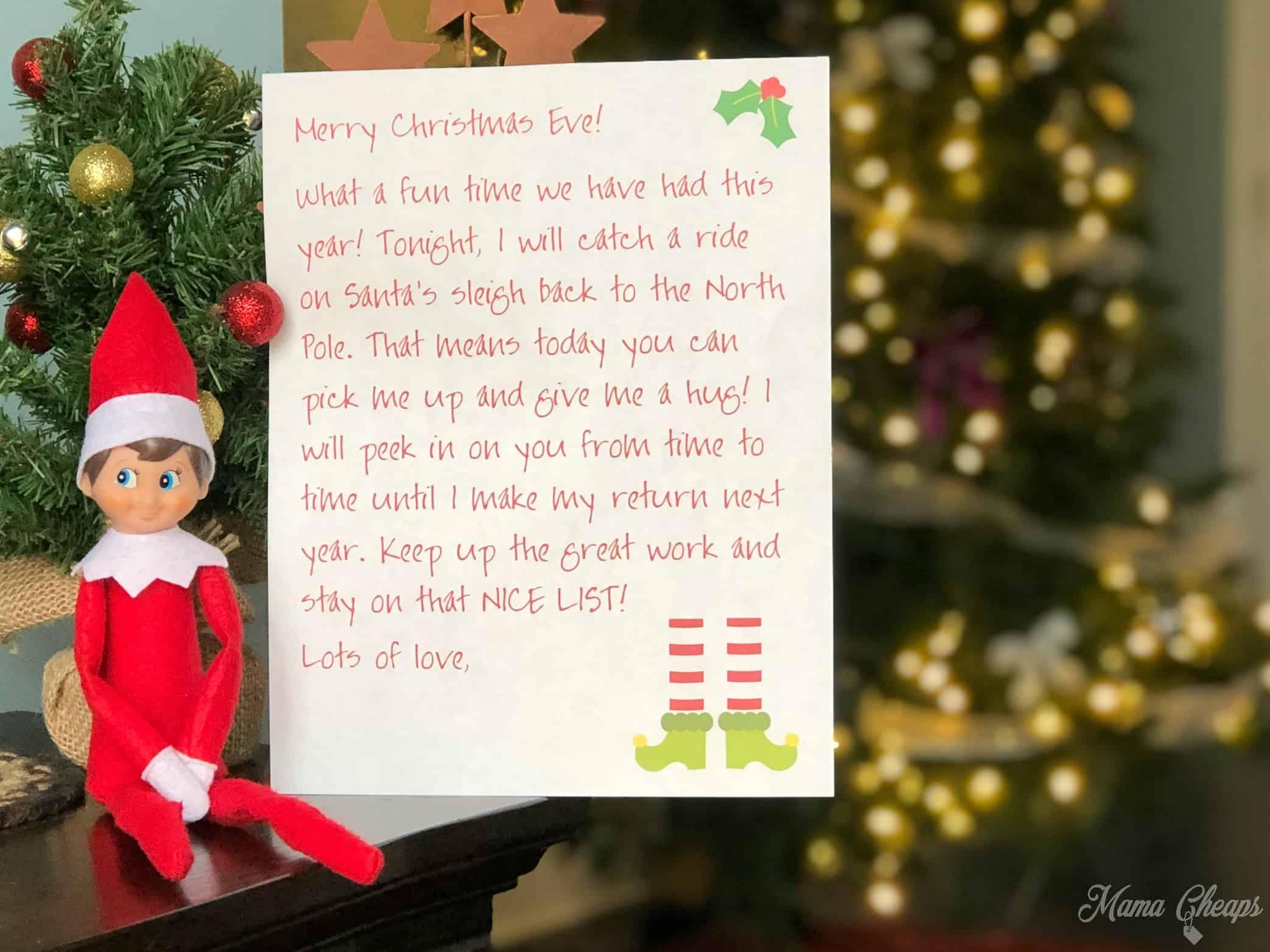 photograph regarding Elf on the Shelf Return Letter Printable identify Printable Elf Farewell Letter for Xmas Eve Mama Cheaps