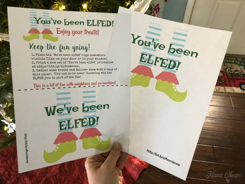 image regarding You've Been Elfed Free Printable known as Youve Been ELFED! Printables - Key Santa for Mates and