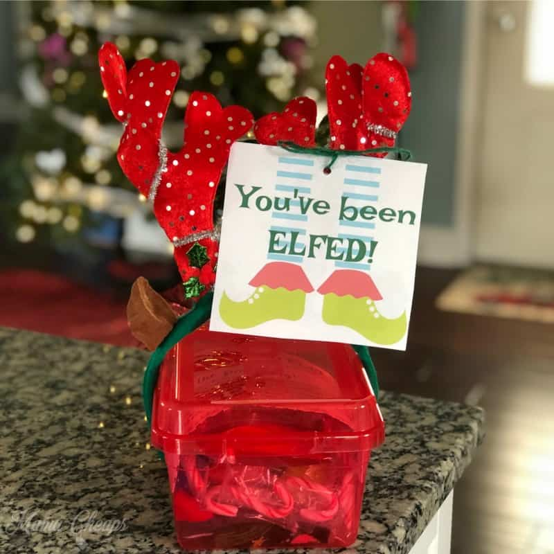 photograph relating to You've Been Elfed Printable called Youve Been ELFED! Printables - Solution Santa for Pals and