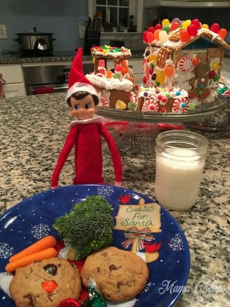 Elf with Santa Cookies