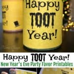 Happy Toot Year New Year's Eve Party Favor Printables