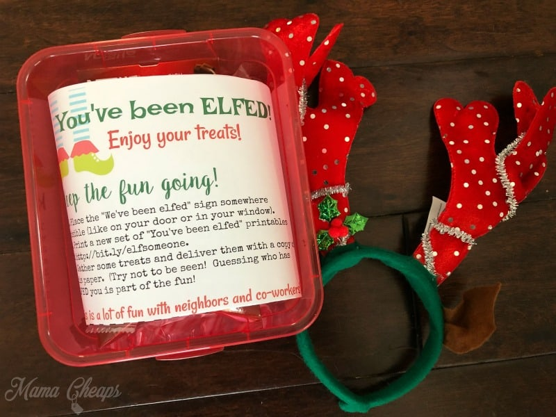 photograph regarding You Ve Been Elfed Printable named Youve Been ELFED! Printables - Magic formula Santa for Buddies and