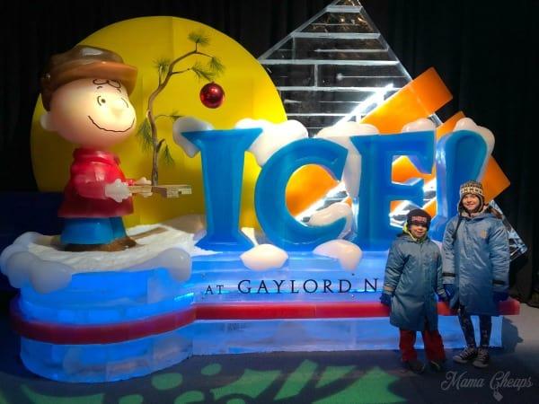 Ice Charlie Brown Christmas Gaylord National