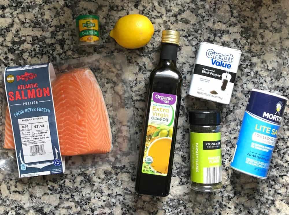 Air Fryer Salmon Ingredients
