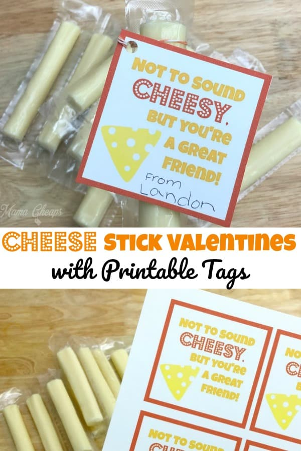 Cheese Stick Valentine Idea Printable Tags Mama Cheaps
