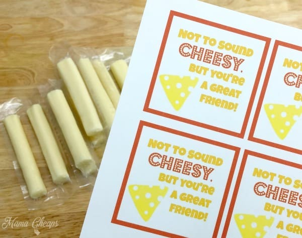 Cheese Valentine Idea