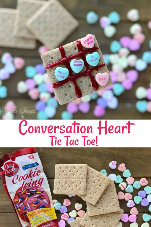 DIY Conversation Heart Tic Tac Toe