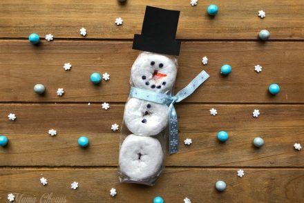 Donut Snowman Snack