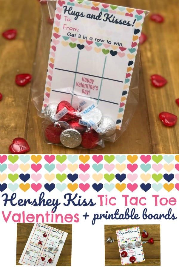 Hershey Kiss Tic Tac Toe Valentines