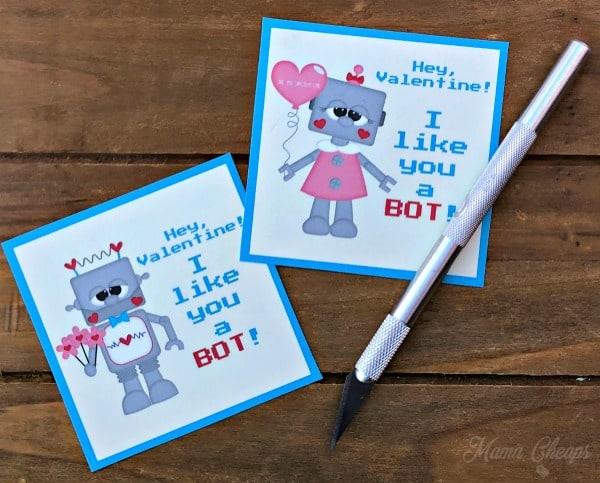 Robot Valentines Pen Knife
