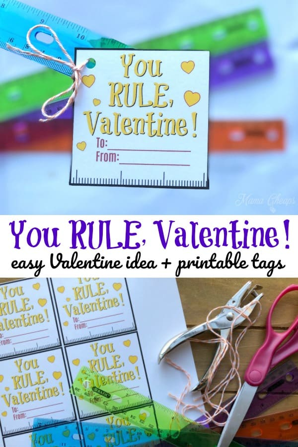 Ruler Valentine Idea and Tags