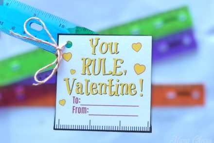 Ruler Valentine Printable