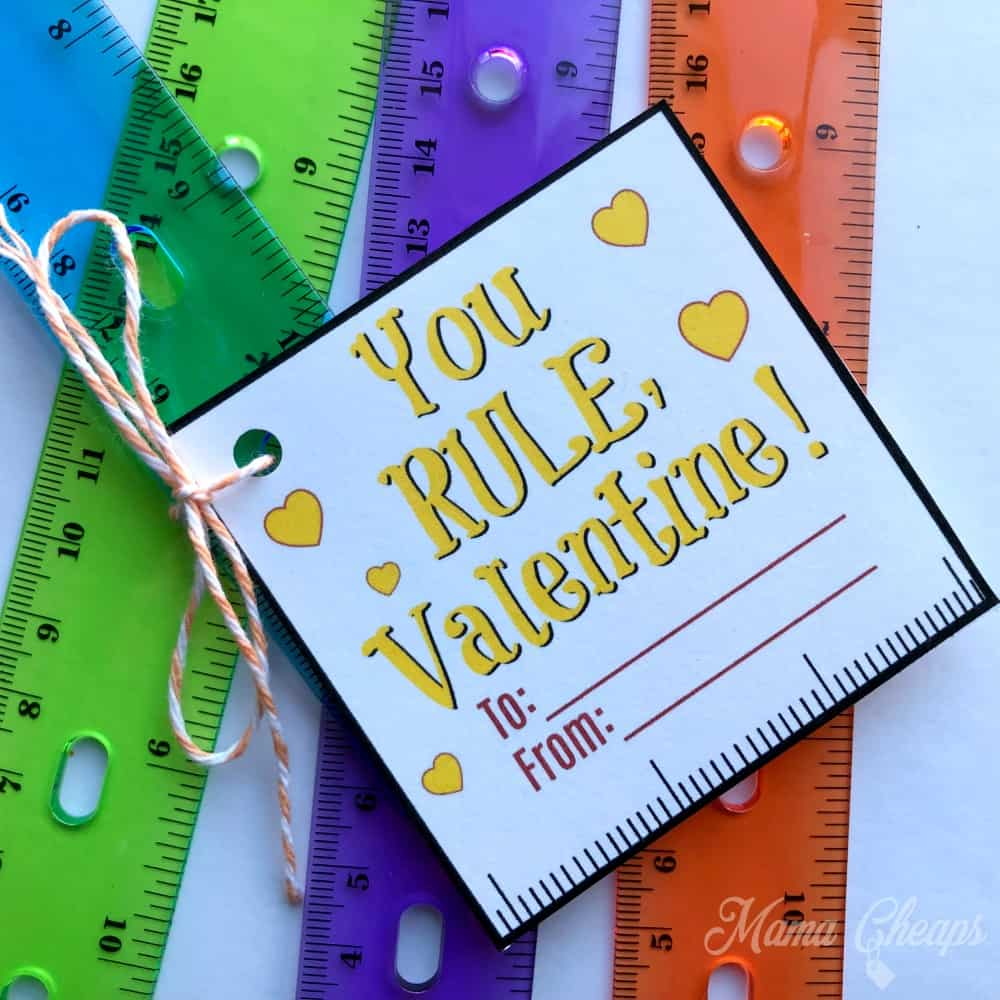 Ruler Valentine Square