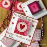 Sticker Valentine Printable Cards