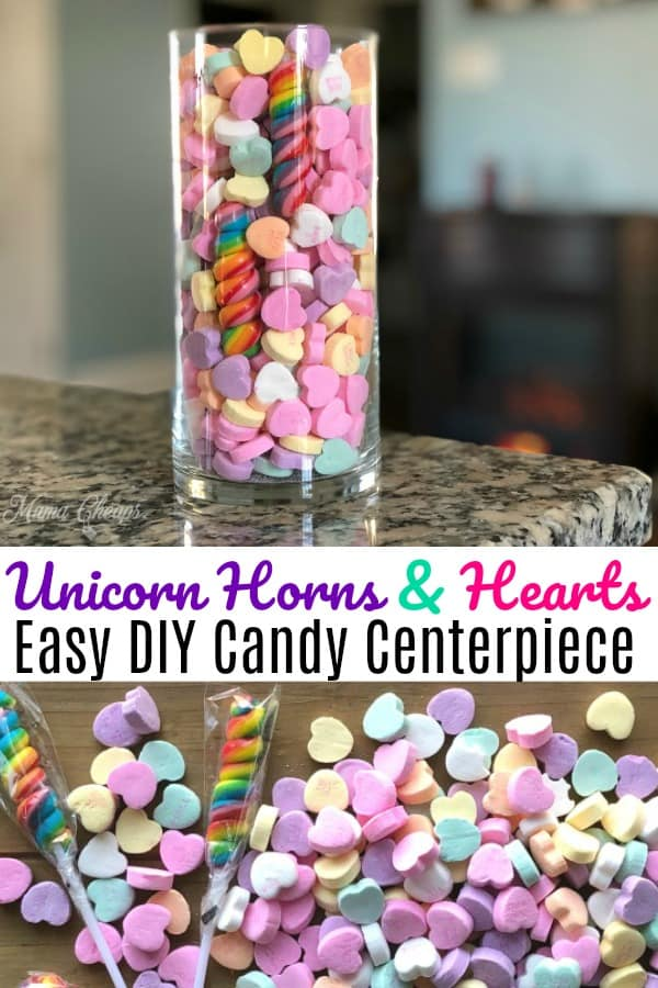 Unicorn Horn Heart Candy Centerpiece