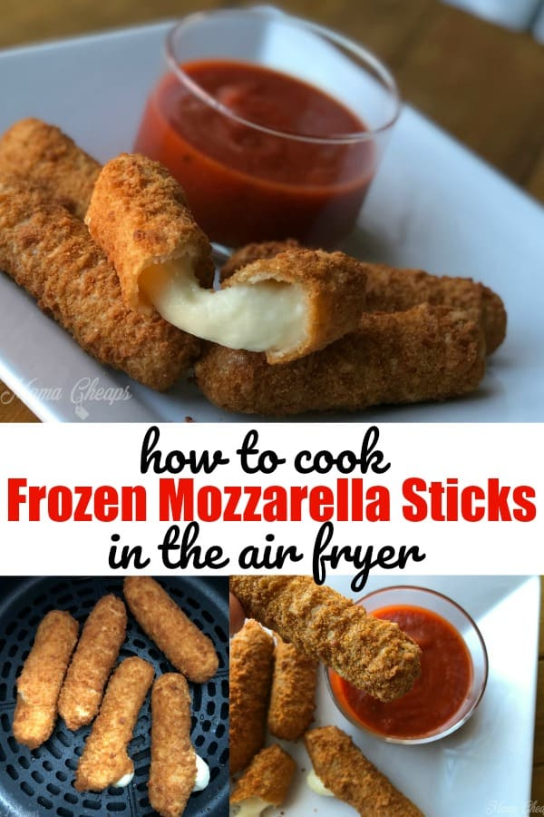 how to cook frozen mozzarella sticks in the air fryer
