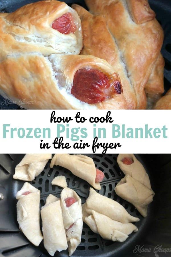 how to cook frozen pigs in blanket air fryer
