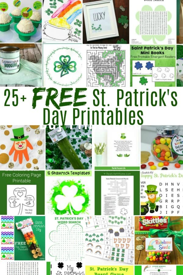 25 FREE St Patricks Day Printables
