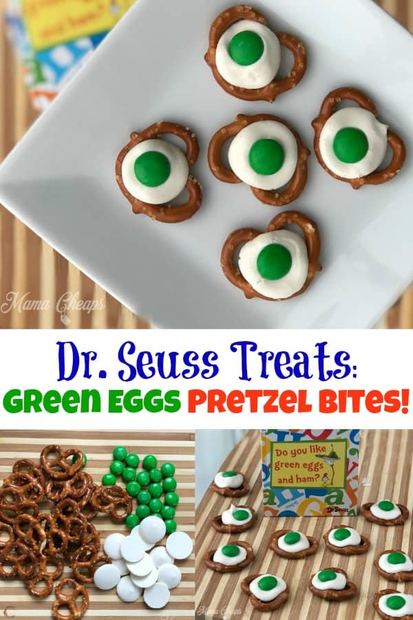 Dr. Seuss Treats Green Eggs Pretzel Bites!
