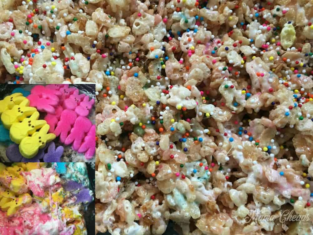Easy Peeps Rice Krispie Treats