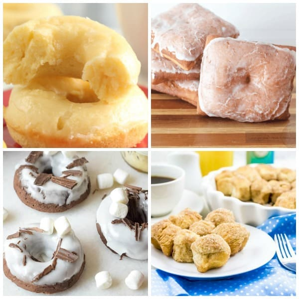 donuts lemon glazed white plate