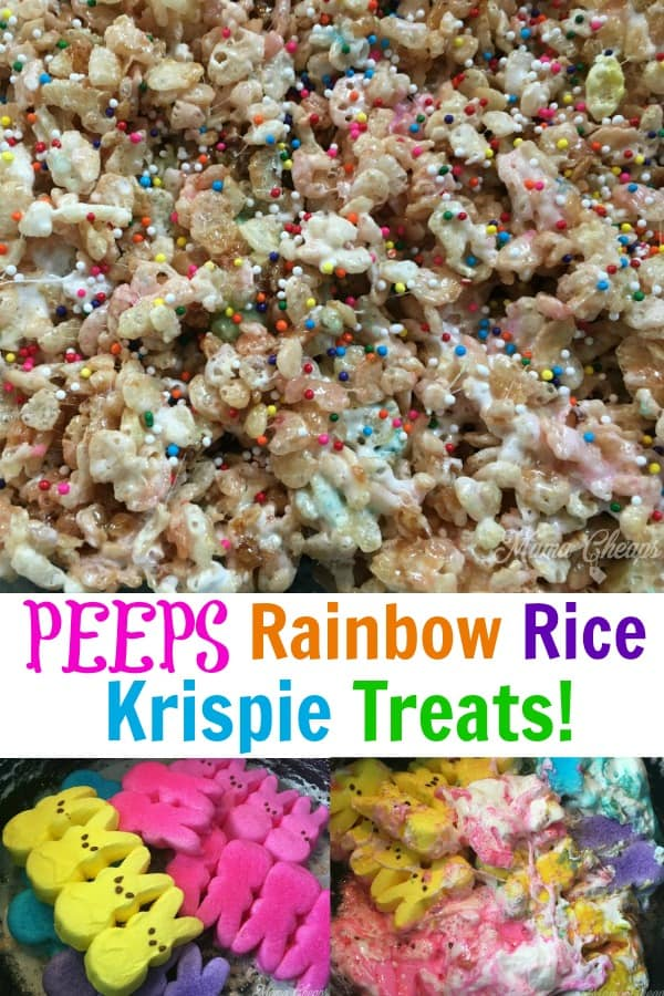 Peeps Rainbow Rice Krispie Treats