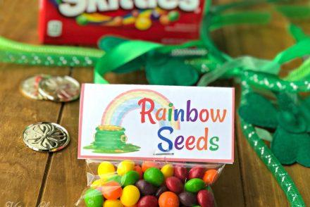 Rainbow Seeds Skittles Snack + Printable Tags