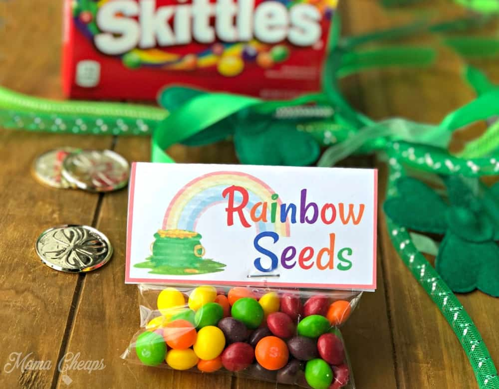 Rainbow Seeds Leprechaun Snack
