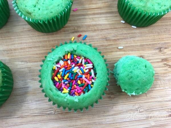Rainbow Sprinkles in Cupcakes