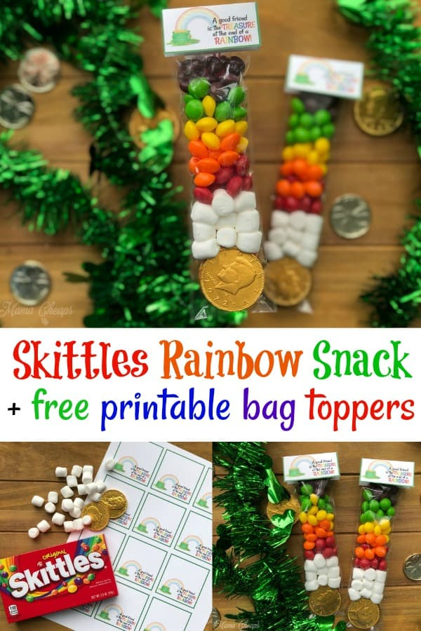 Skittles Rainbow Snack with Bag Toppers