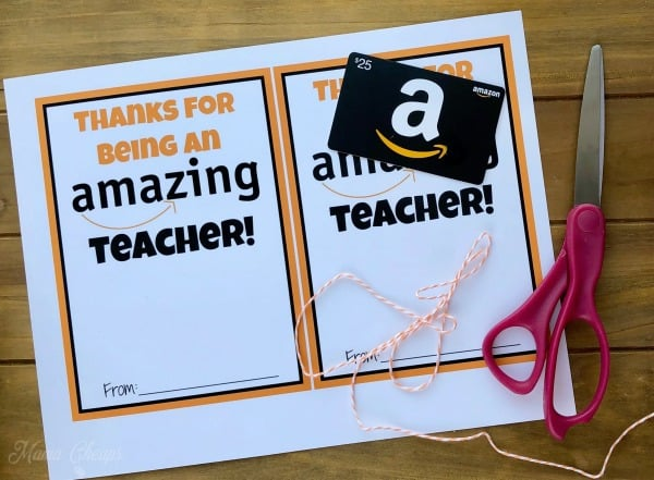picture relating to Amazon Gift Card Printable referred to as Amazon Reward Card Instructor Reward Printable Card Holder Mama