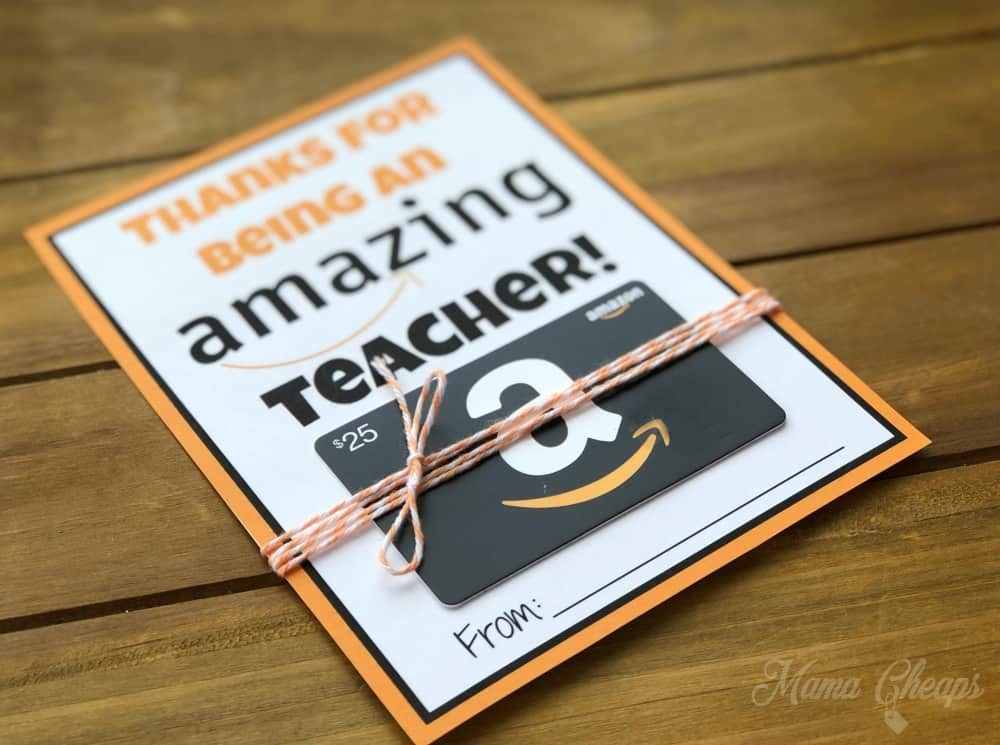 photo regarding Printable Amazon Gift Card called Amazon Reward Card Instructor Reward Printable Card Holder Mama