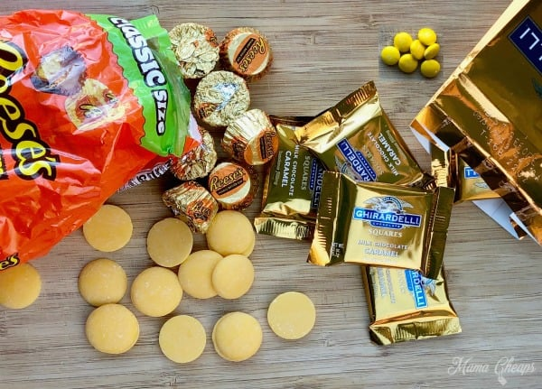 DIY Chocolate Candy Graduation Cap Supplies