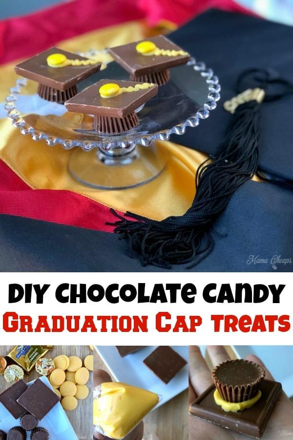 DIY Chocolate Candy Graduation Cap Treats