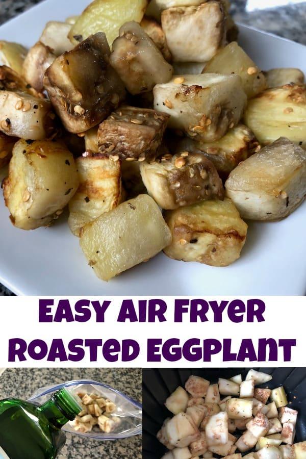 Easy Air Fryer roasted Eggplant