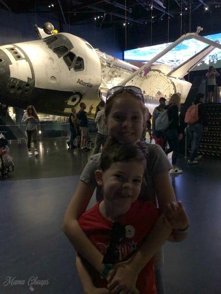 Kids with Space Shuttle