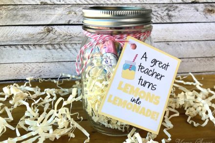 Lemonade Mason Jar Teacher Gift