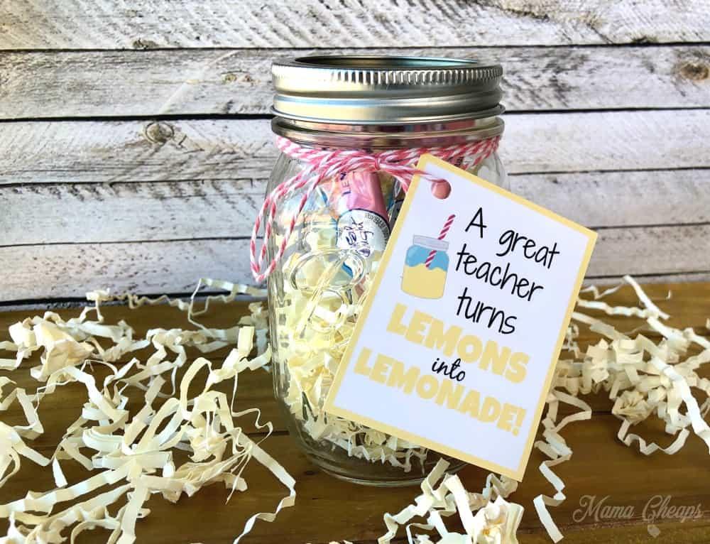Lemonade Mason Jar Teacher Gift