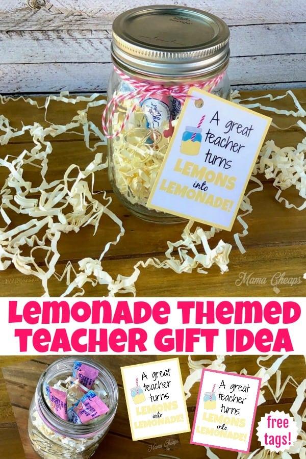 Lemonade themed Teacher Gift