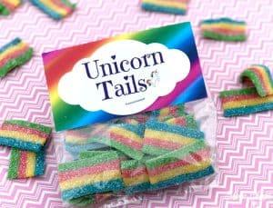 Rainbow Unicorn Tails Printables