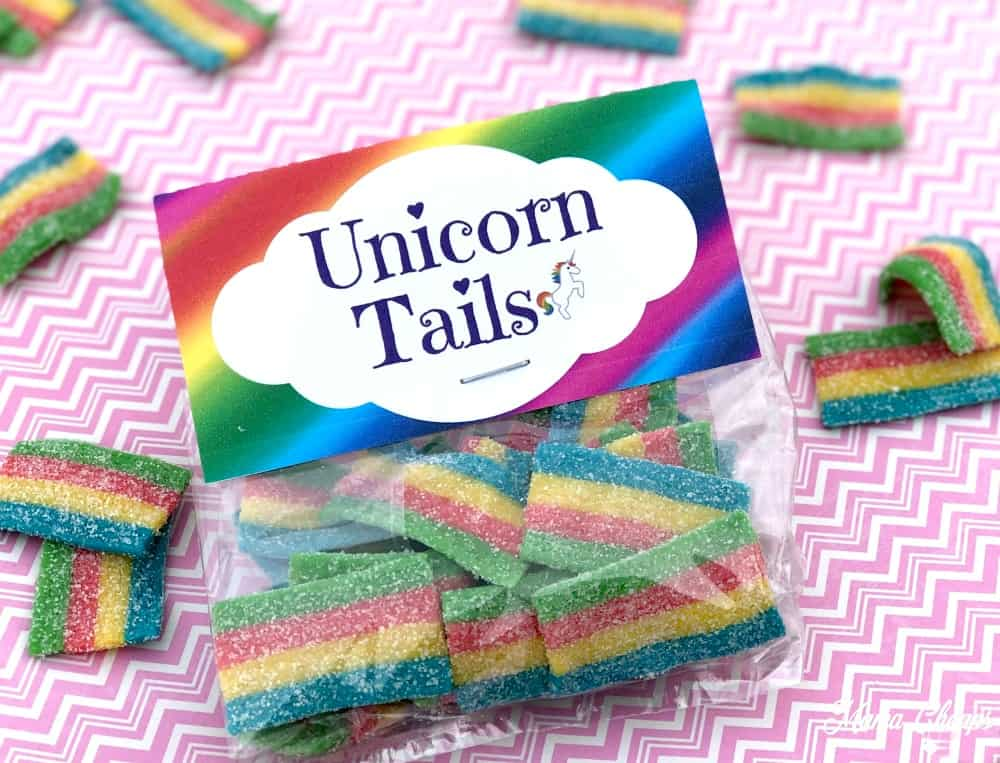 Rainbow Unicorn Tails Printables