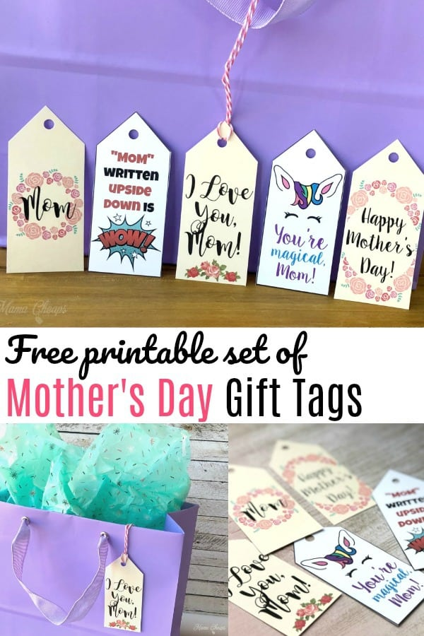 Set of Mother's Day Gift Tags pin