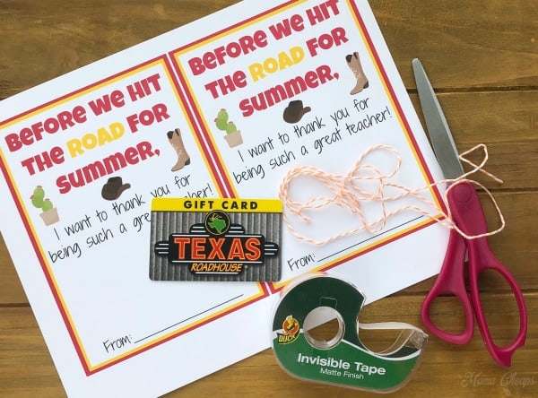 Texas Roadhouse Gift Supplies