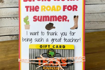 Texas Roadhouse Teacher Gift