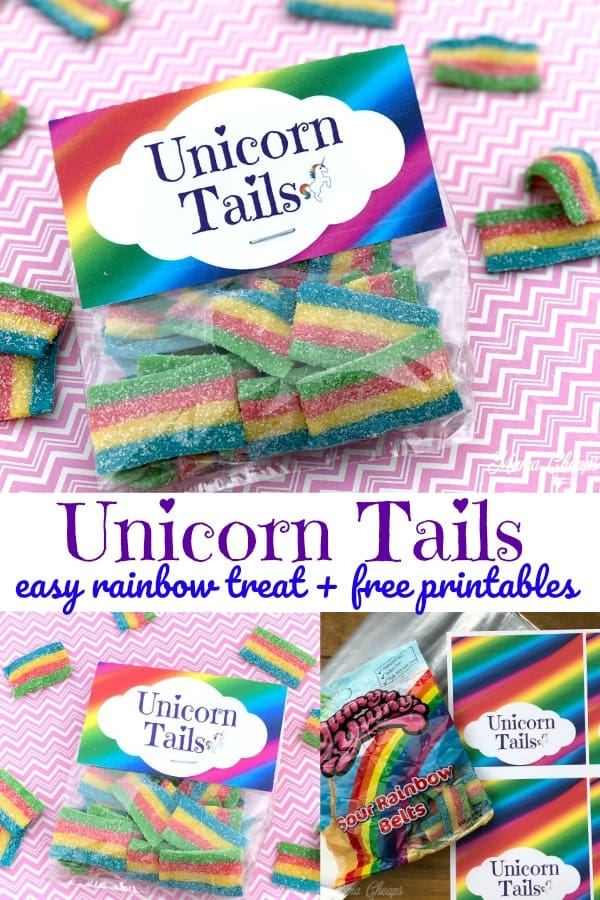 Unicorn Tails Rainbow Snack Idea